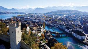 Город Люцерн в Швейцари